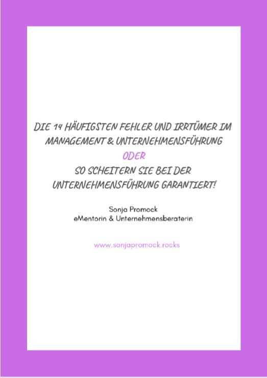 14 Fehler und Irrtümer bei der Unternehmensführung und Management
